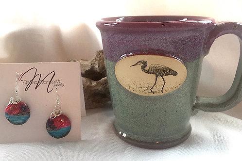 Heron Mug & Earring Set