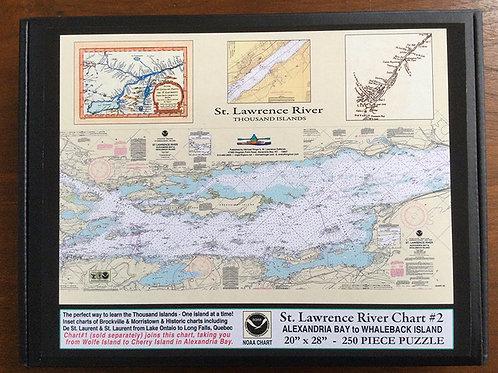 Chart #2 Alexandria Bay to Whaleback Island