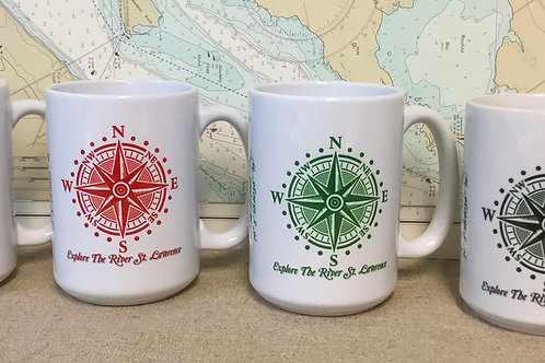 Explore The River St. Lawrence Compass Star 15oz. Mugs
