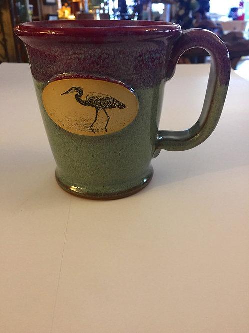 Blue, Green & Violet Heron Mug