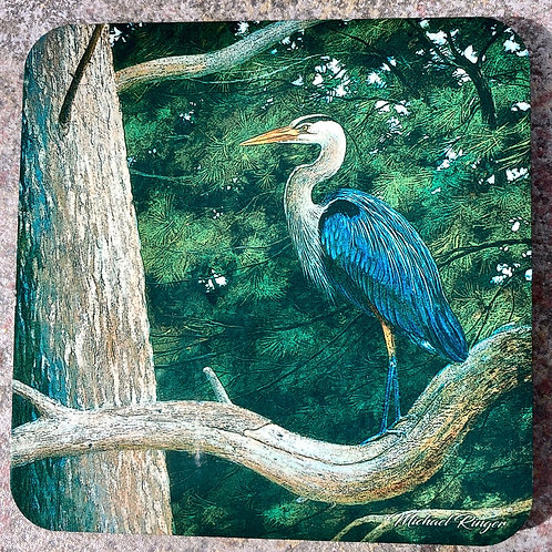 Heron In The Pines Coaster