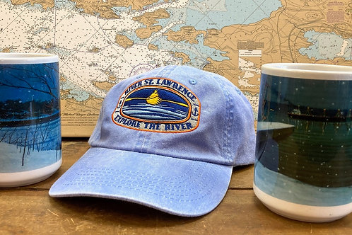 Explore The River Rower  Hat ~ Periwinkle & Two 15Oz River Mugs