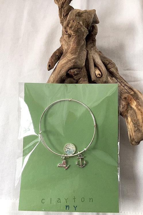 Clayton Charm Bracelet Silver
