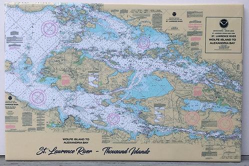 "River Chart Tile 8"" X 12"""