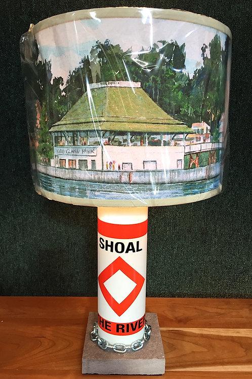 River Shoal Marker Lamp - SMALL TI Pavillion Shade