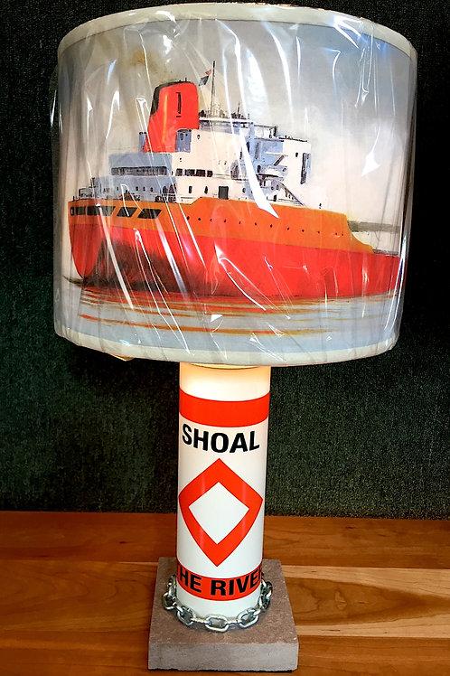 River Shoal Marker Lamp - SMALL Seasmoke Shade