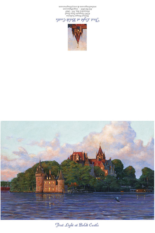 First Light at Boldt castle Note Card