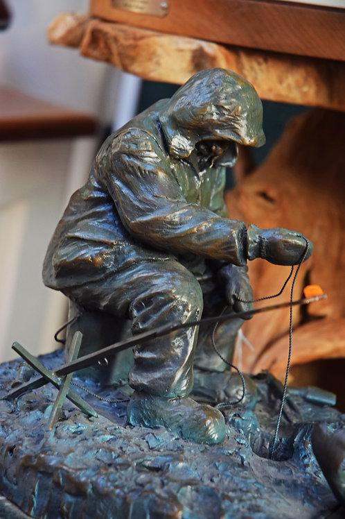 Ice Fisherman - Bronze