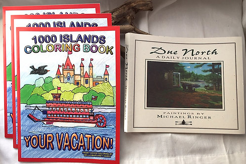 3 Coloring Books & Due North Journal