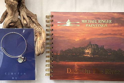 Clayton River Chart Charm Bangle & Days On The River Journal