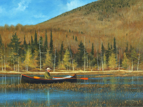 Guideboat on Mink Pond
