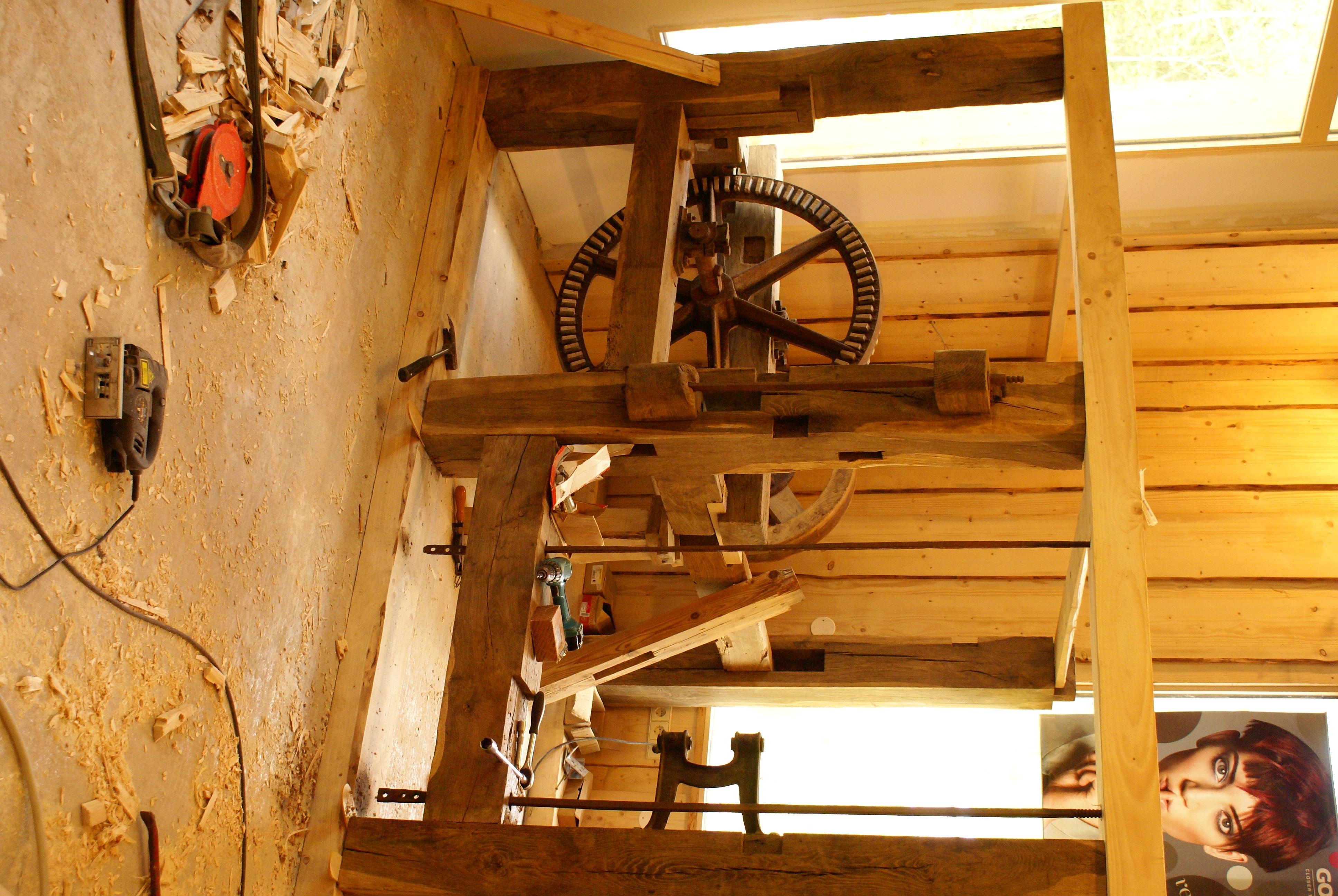 der Mühlenbau schreitet voiran