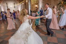 Bride and dad dancing