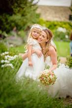 Bride & Bridesmaid at the George in Stamford