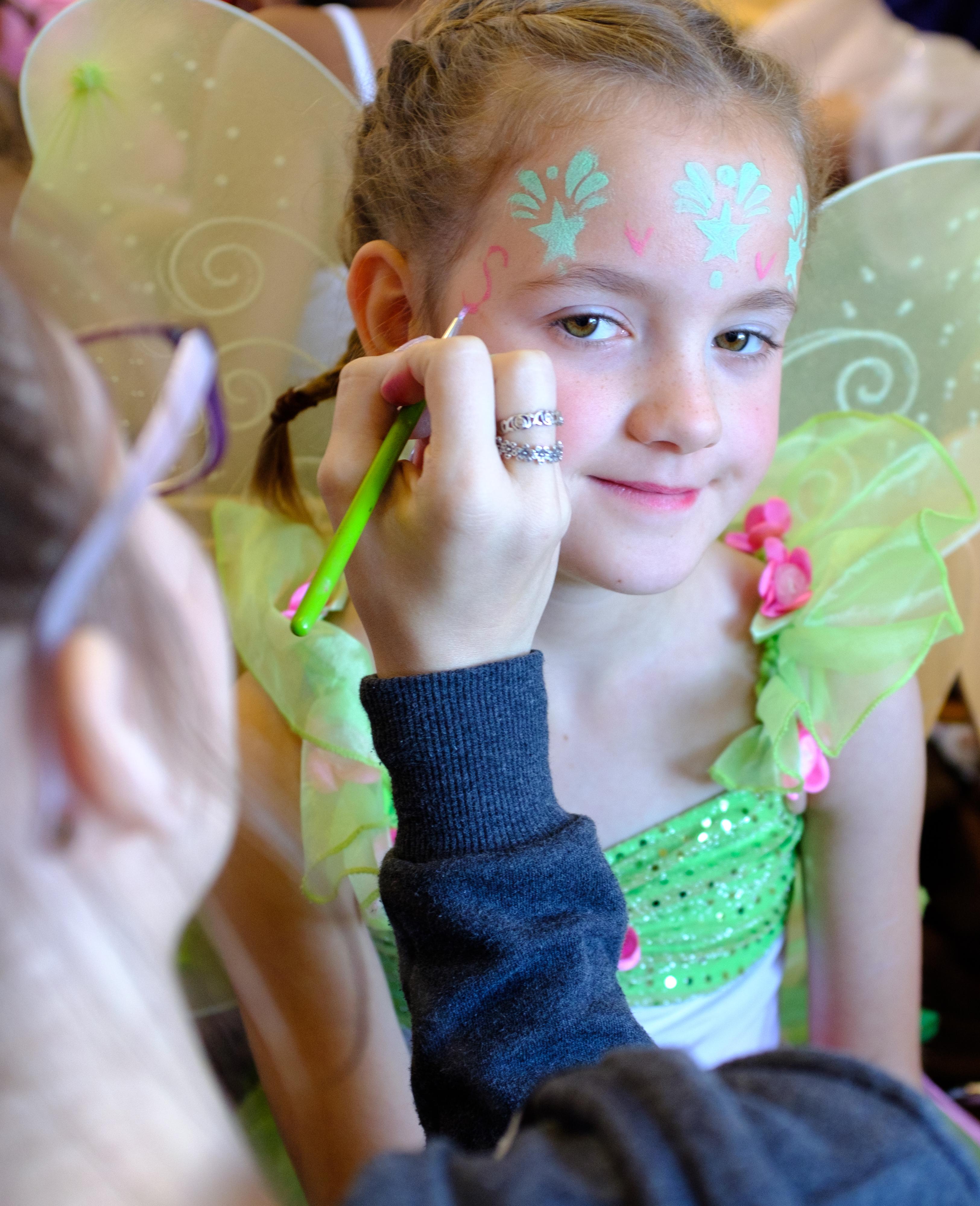 Dance rehearsal makeup