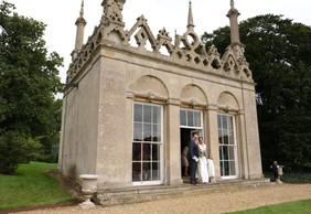 Burghley House wedding Summer House