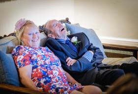 Wedding guest sleeping