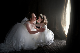 Aimee & Eva Wedding window light-Recover
