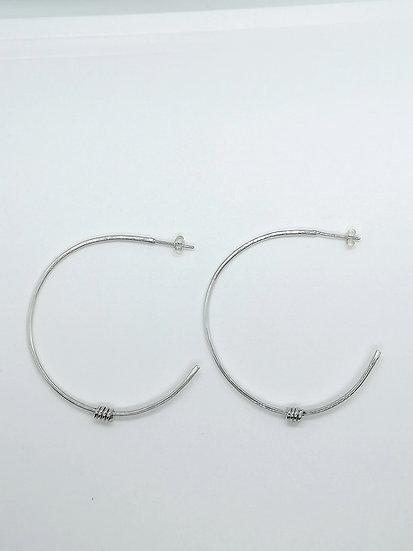 Large Hoops with Wires