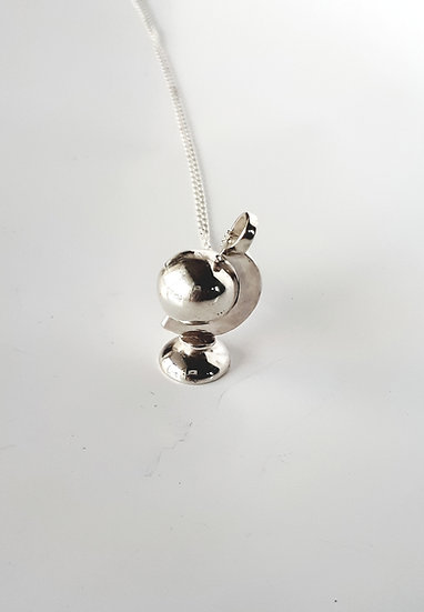 Spinning Globe Necklace