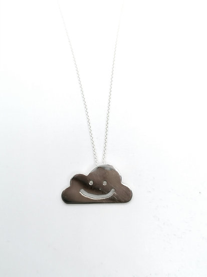 Smiley Cloud Necklace