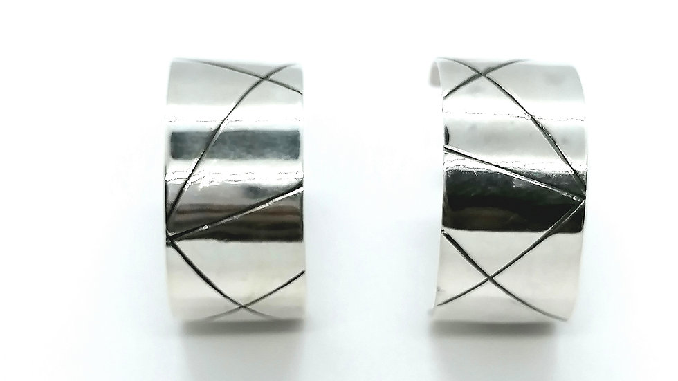 Wide Hoops with Lines