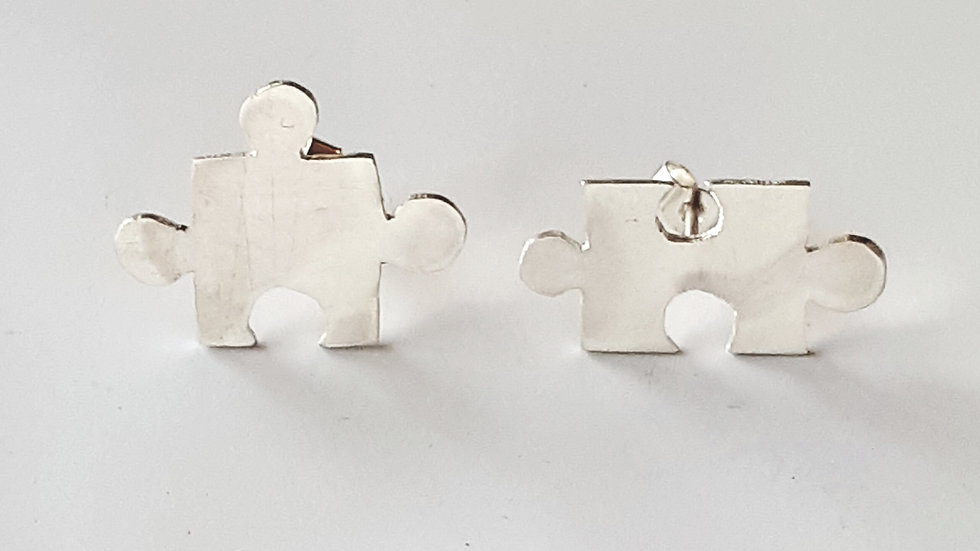 Jigsaw Puzzle Ear Studs