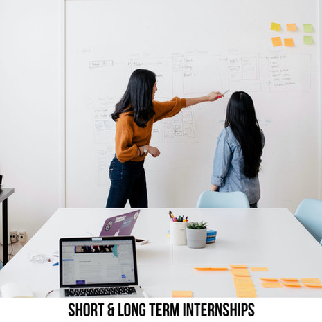 SHORT & LONG TERM INTERNSHIPS