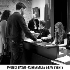PROJECT BASED - CONFERENCES, LIVE EVENTS & EXHIBITIONS