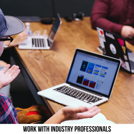 WORK WITH INDUSTRY PROFESSIONALS