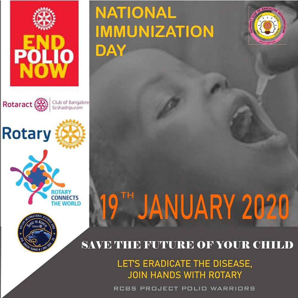 #nationalimmunizationday #pulsepolio #endpolio #bbmp #rotarybengaluru