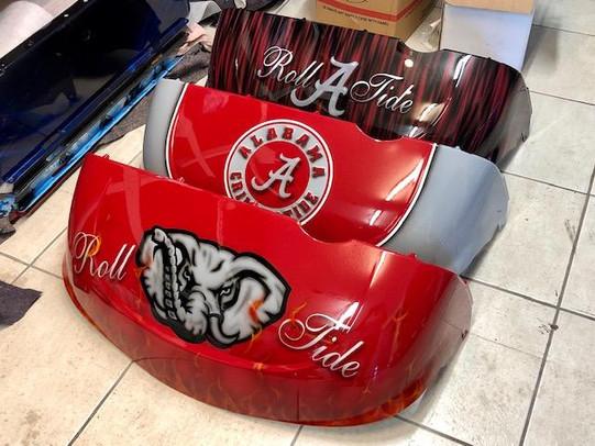 University of Alabama Golf Cart bodies by Liquid Lenny's Customs