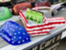 American Flag Custom Golf Cart Body Liquid Lenny's Customs Precedent Body Custom Paint