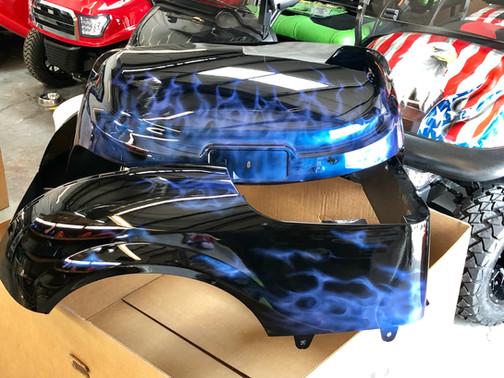 Blue to Purple Chameleon Fire