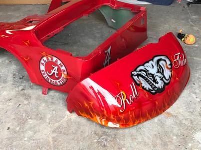 University of Alabama Roll Tide Elephant Golf Cart Body By Liquid Lenny's Customs