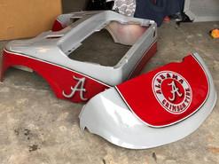 Alabama Crimson Tide Custom painted golf cart body by Liquid Lenny's Customs