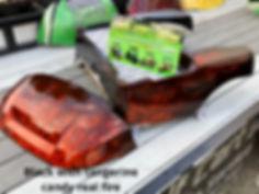 Candy Tangerine Real Fire Custom Golf Cart Body Precedent Body