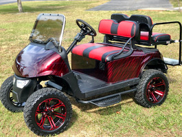 candy red golf cart custom paint