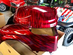 Candy Red Streaker Golf Cart Body