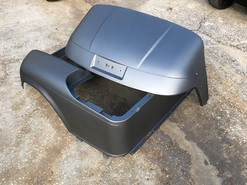 Matte Silver EZGO TXT Golf Cart Body