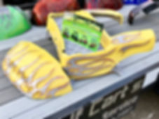 Yellow Custom Golf Cart Body Liquid Lenny's Customs