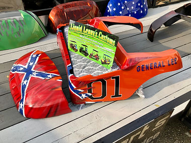 Custom Paint General Lee Golf Cat Body Confederat Flag Golf Cart Body Golf Car Liquid Lenny's Customs Precedent Golf Cart Body