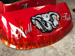 University of Alabama Roll Tide Elephant Golf Cart Body By Liquid Lenny's Customs