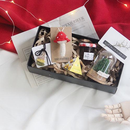 Christmas Gift Box Set w/ Nano Xmas Tree Glass Dome