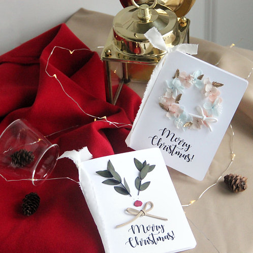Christmas Preserved Flower Cards