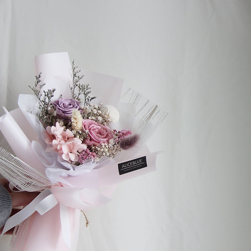 Petite Preserved Flower Bouquet (Light Plum)