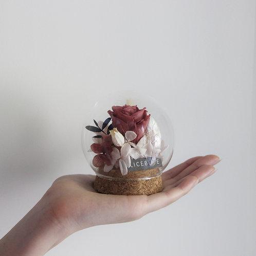 Mini Preserved Flower in Sphere (Fall)