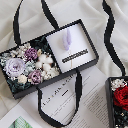 Preserved Flower Gift Box (Violet)