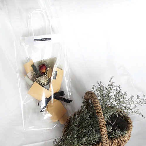 Petite Dried Flower Bouquet in Bag (Apricot)