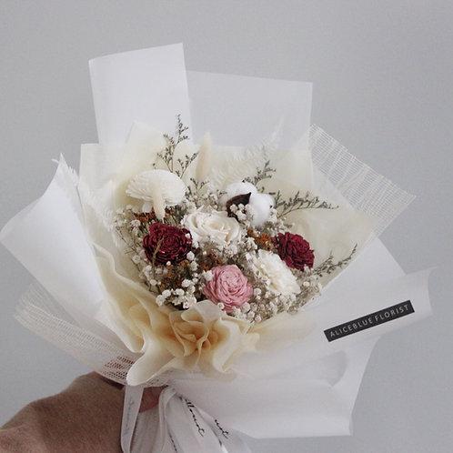 Deluxe Preserved Flower Bouquet (Snowwhite)